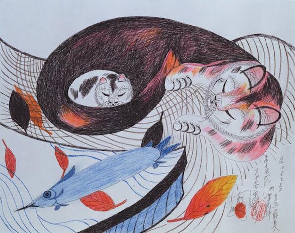 08. art - mother cat & baby cat-s